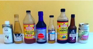 Assorted healthy condiments