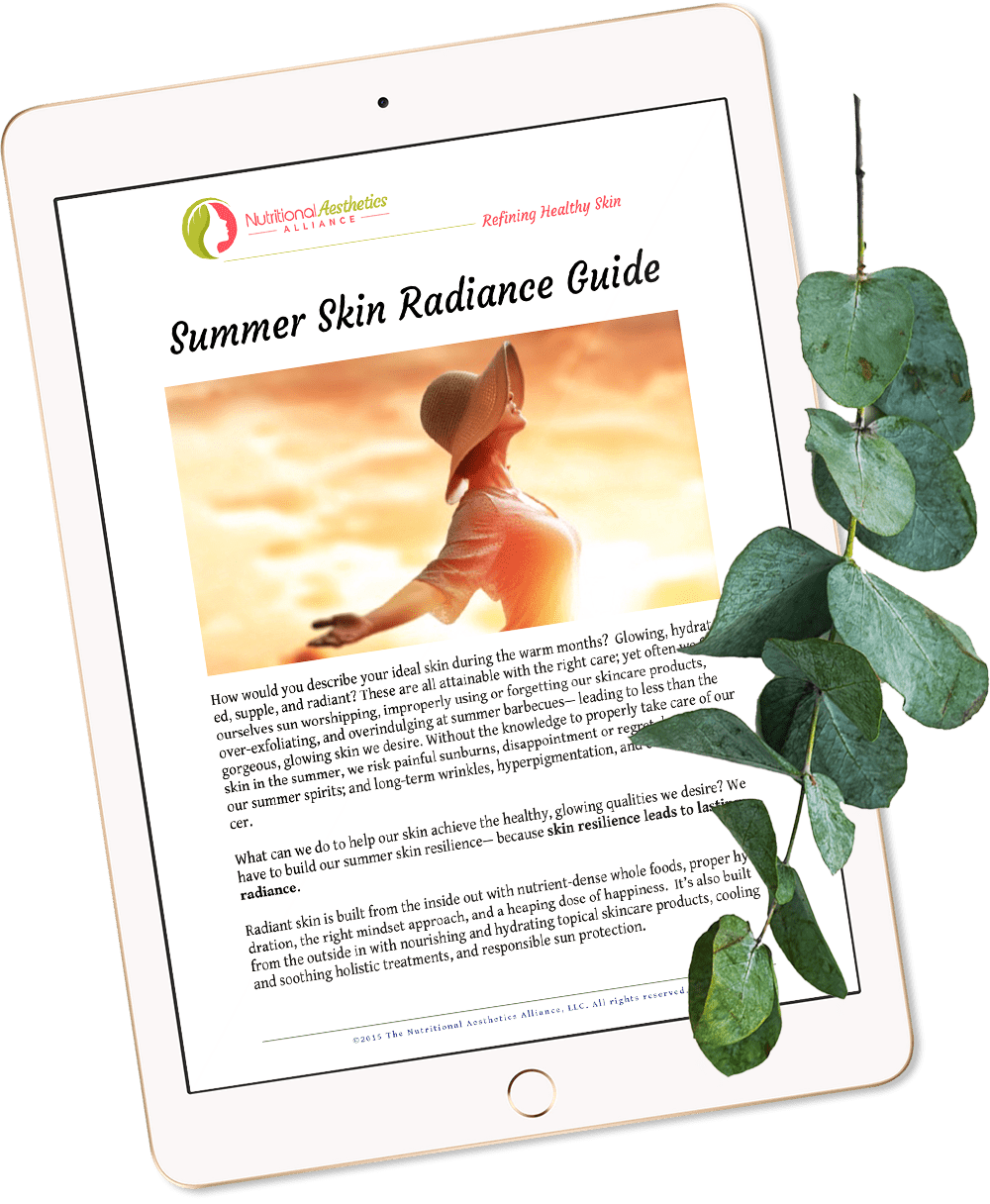 Summer Skin Radiance Guide on iPad