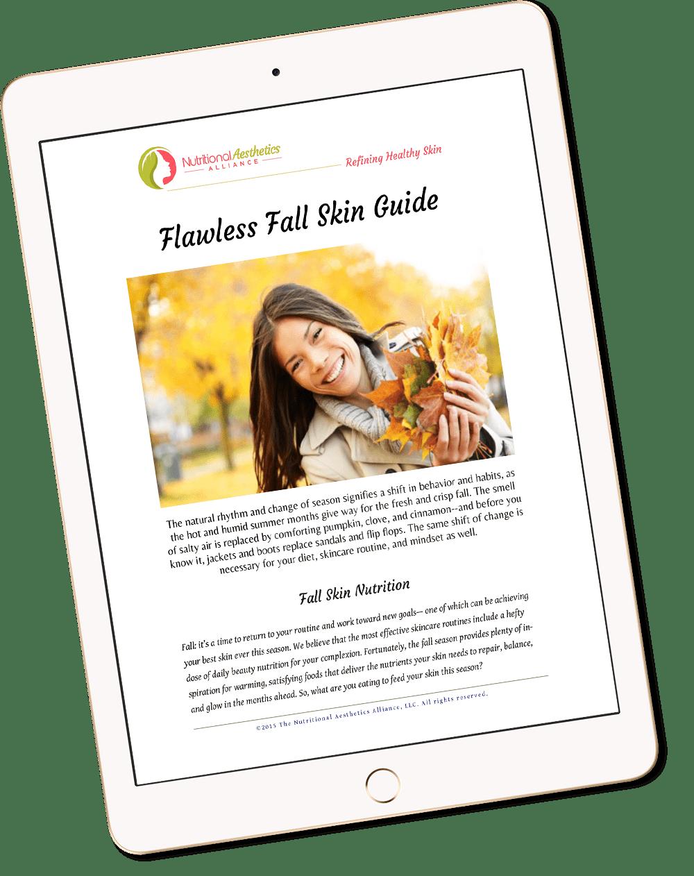 Fall Skin Guide on an iPad